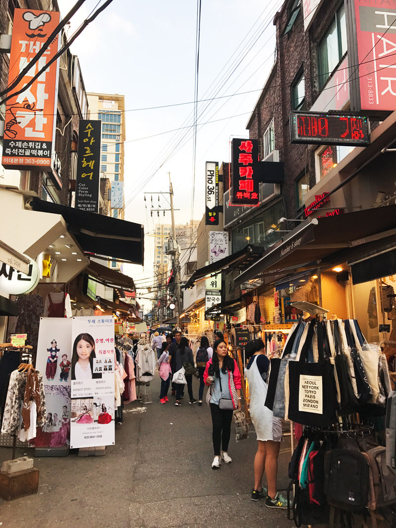 seoul shopping streets