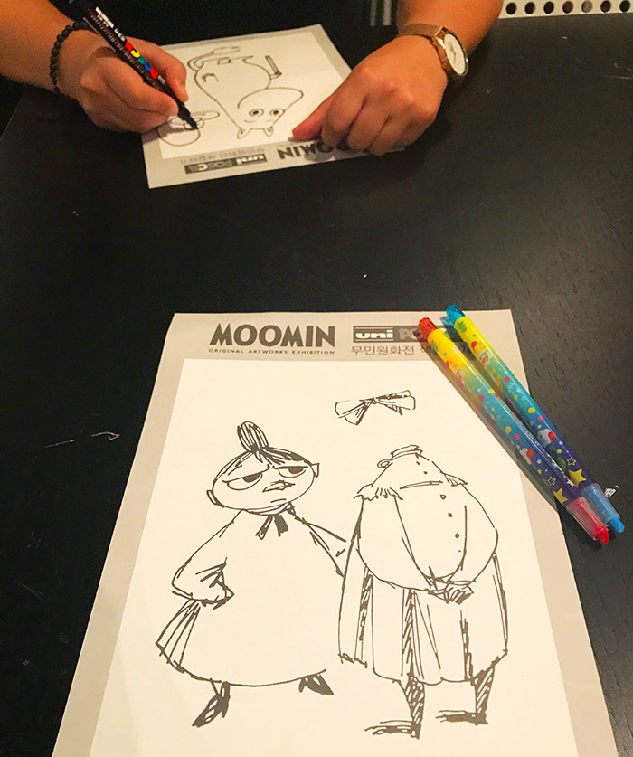 moomin colouring