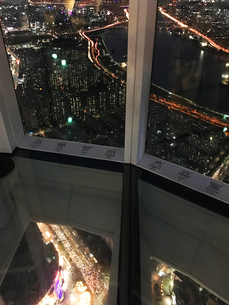 lotte world tower glass floor