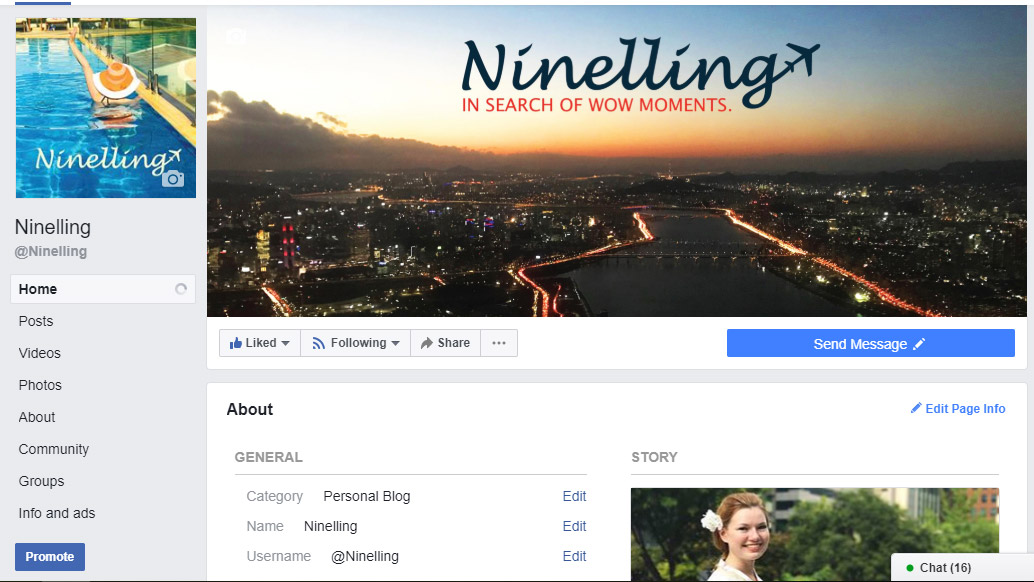 ninelling travel blog facebook social media