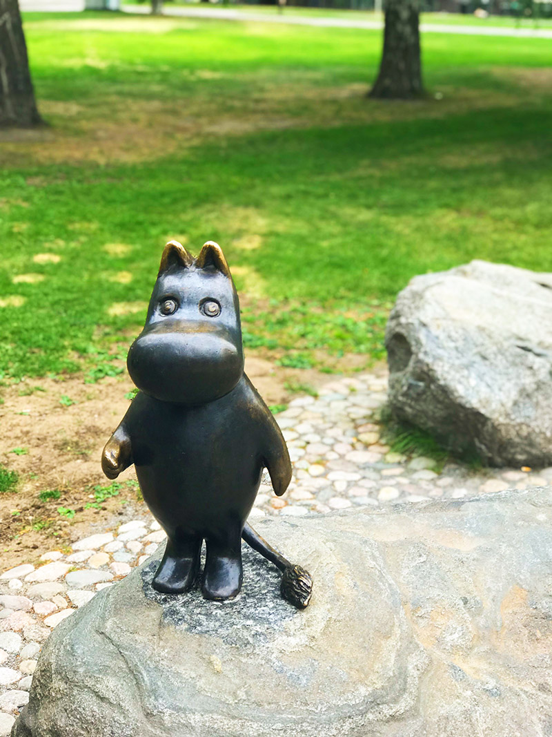 moomin statue tampere