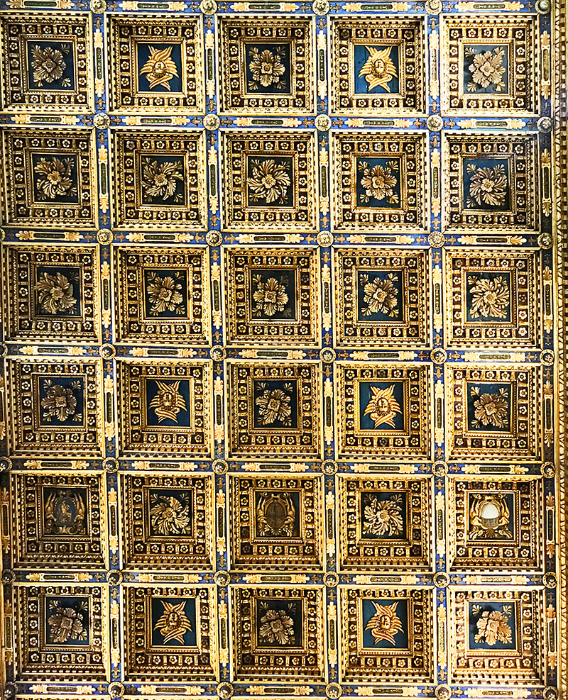 Gorgeous ceiling in the church pisa