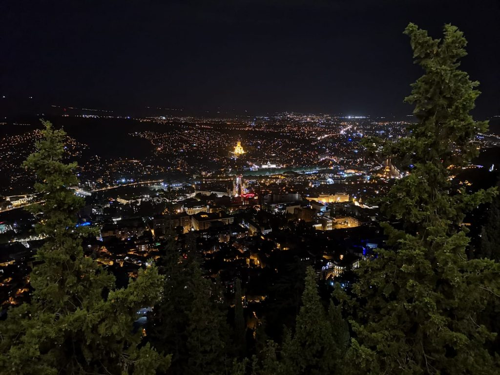 tbilisi view by night