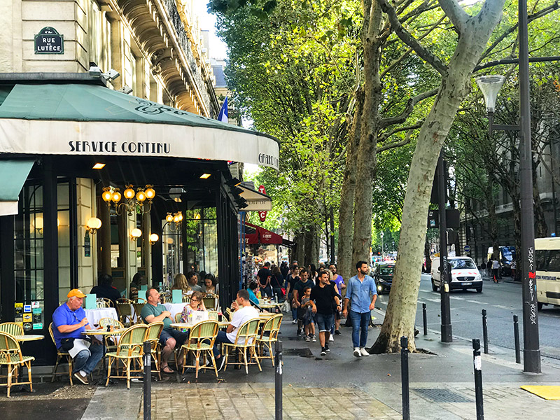 paris cafes and streets