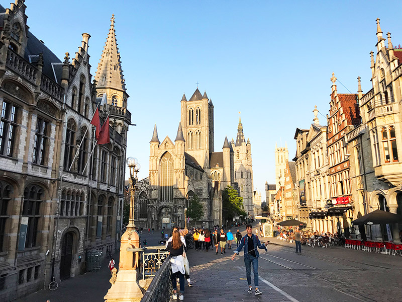 ghent city of three towers